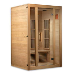 Golden Designs Maxxus Seattle Low EMF Far-Infrared 2-Person Sauna MX-J206-01, Canadian Hemlock - SaunaTown.com