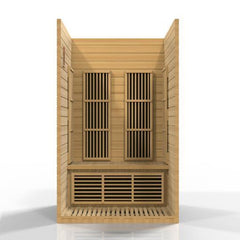 Golden Designs Maxxus Seattle Low EMF Far-Infrared 2-Person Sauna MX-J206-01, Canadian Hemlock
