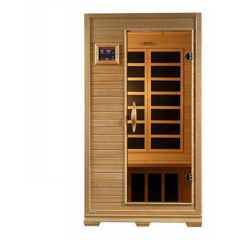 Golden Designs Studio Series Low EMF Far 1-2-person Infrared Sauna GDI-6109-01 - SaunaTown.com
