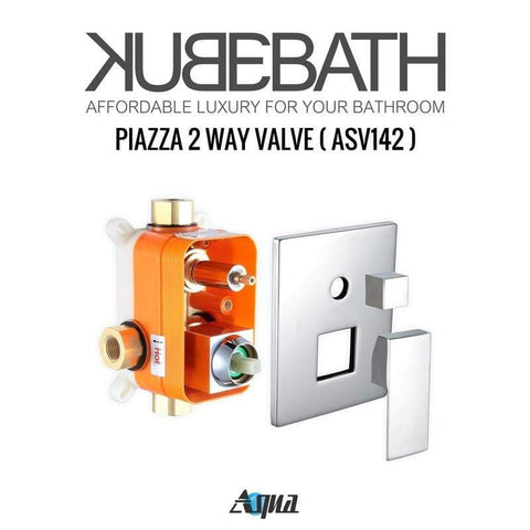 "KubeBath Aqua Piazza Shower Set w/ 12"" Rain Shower & 4 Body Jets Shower Equipment WR3004J2V - SaunaTown.com"