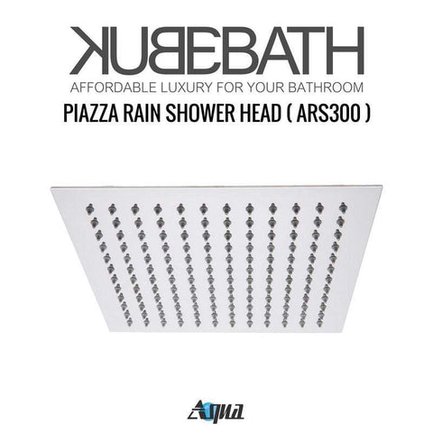 KubeBath Aqua Piazza Brass Shower Set w/ 4 Body Jets & Handheld Shower Equipment CR3004JHH3V - SaunaTown.com