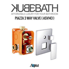 KubeBath Aqua Piazza Brass Shower Set w/ Body Jets & Tub Filler Shower Equipment WR2004JTF3V