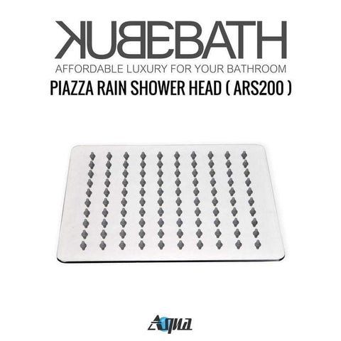 KubeBath Aqua Piazza Brass Shower Set w/ Body Jets & Tub Filler Shower Equipment WR2004JTF3V - SaunaTown.com