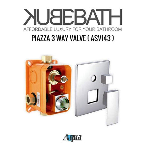 KubeBath Aqua Piazza Brass Shower Set w/ Tub Filler & Body Jets Shower Equipment CR2004JTF3V - SaunaTown.com