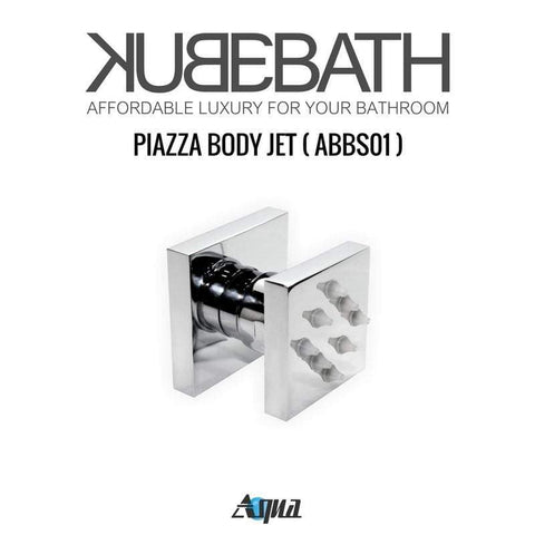 "KubeBath Aqua Piazza Shower Set with 12"" Rain Shower & Body Jets Shower Equipment CR3004J2V - SaunaTown.com"