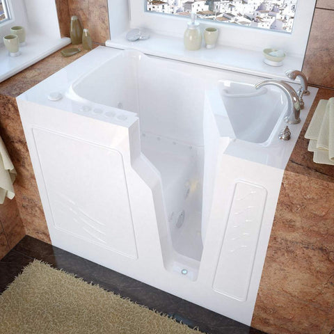 Meditub Walk-In Right Drain Air Jetted Whirlpool Bathtub 2646RWD - SaunaTown.com