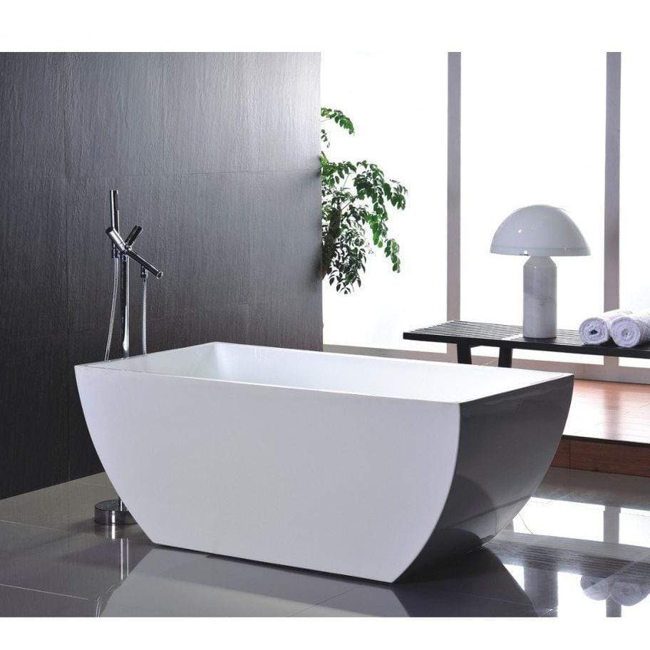 "Legion Furniture 67"" Double Ended Freestanding Tub Step-In Bathtubs WE6821 - SaunaTown.com"