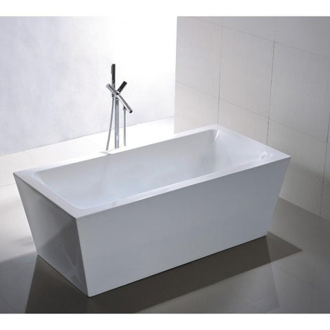"Legion Furniture 67"" Doubled Ended Freestanding Tub Step-In Bathtubs WE6814 - SaunaTown.com"