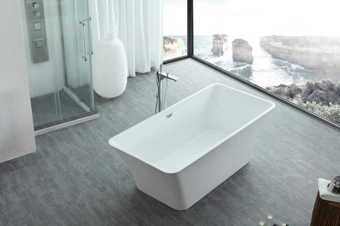 "Legion Furniture 67"" White Acrylic Tub - No Faucet Step-In Bathtubs WE6840 - SaunaTown.com"