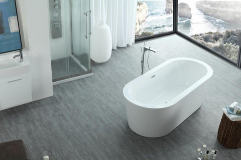"Legion Furniture 67"" White Acrylic Tub - No Faucet Step-In Bathtubs WE6841 - SaunaTown.com"