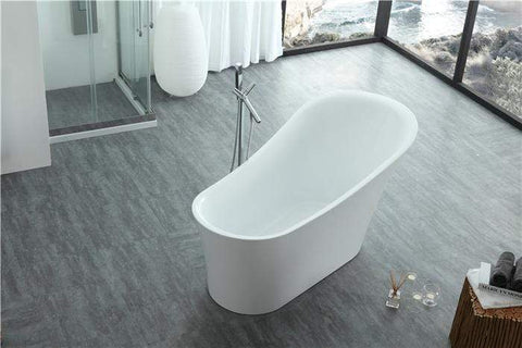 "Legion Furniture 67"" White Acrylic Tub - No Faucet Step-In Bathtubs WE6843 - SaunaTown.com"