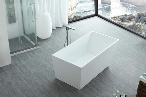 "Legion Furniture 67"" White Acrylic Tub - No Faucet Step-In Bathtubs WE6844 - SaunaTown.com"