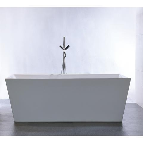 "Legion Furniture 67"" White Double Ended Freestanding Tub Step-In Bathtubs WE6813 - SaunaTown.com"