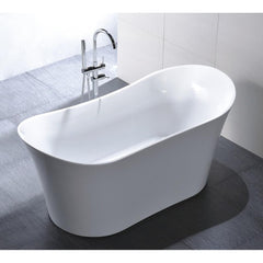 "Legion Furniture 67"" White Freestanding Double Slipper Tub Step-In Bathtubs WE6805 - SaunaTown.com"