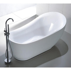 "Legion Furniture 71"" White Freestanding Acrylic Tub Step-In Bathtubs WE6512 - SaunaTown.com"
