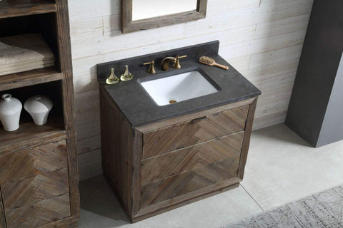 "Legion Furniture 36"" Wood Sink Vanity Match With Marble Wh 5136"" Top -No Faucet Bathroom Vanities WH8536 - SaunaTown.com"