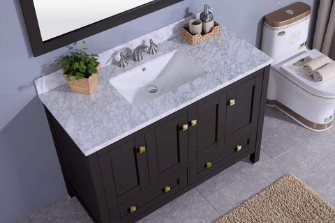 Legion Furniture Sink Vanity with Mirror, Without Faucet Bathroom Vanities WT7348-E - SaunaTown.com