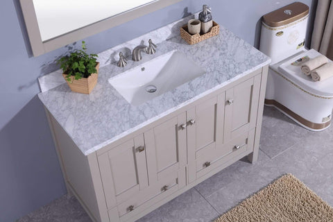 Legion Furniture Sink Vanity with Mirror, Without Faucet Bathroom Vanities WT7348-G - SaunaTown.com