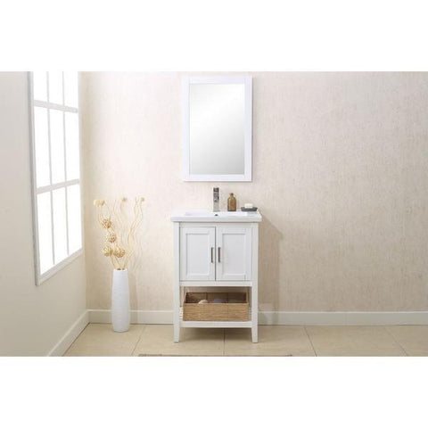 "Legion Furniture Vanity Set 24"" with Mirror Faucet Basket Bathroom Vanities WLF6021 - SaunaTown.com"