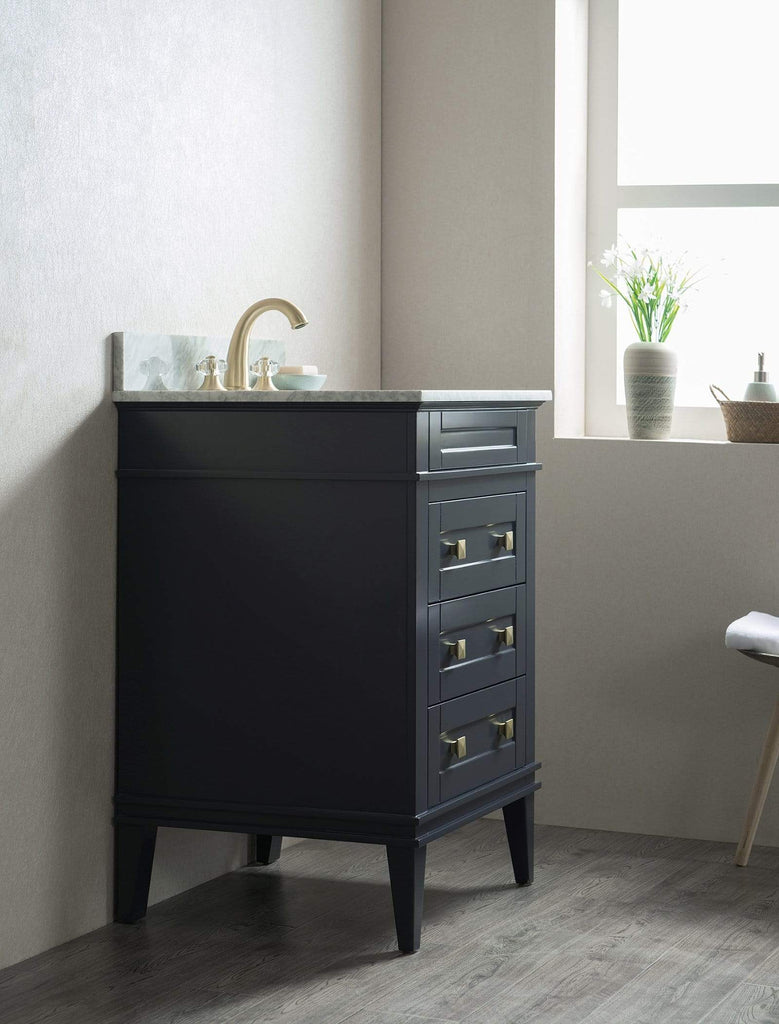"Legion Furniture 24"" Solid Wood Sink Vanity With Without Faucet Bathroom Vanities WS3124-B - SaunaTown.com"