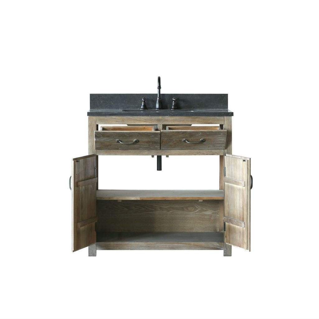 "Legion Furniture 36"" Solid Elm Sink Vanity With Faucet And 24"" Mirror Bathroom Vanities WN7336 + WN7324-M - SaunaTown.com"