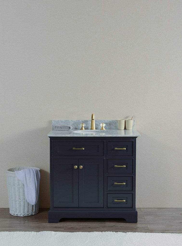 "Legion Furniture 36"" Solid Wood Sink Vanity With Without Faucet Bathroom Vanities WS3036-G - SaunaTown.com"