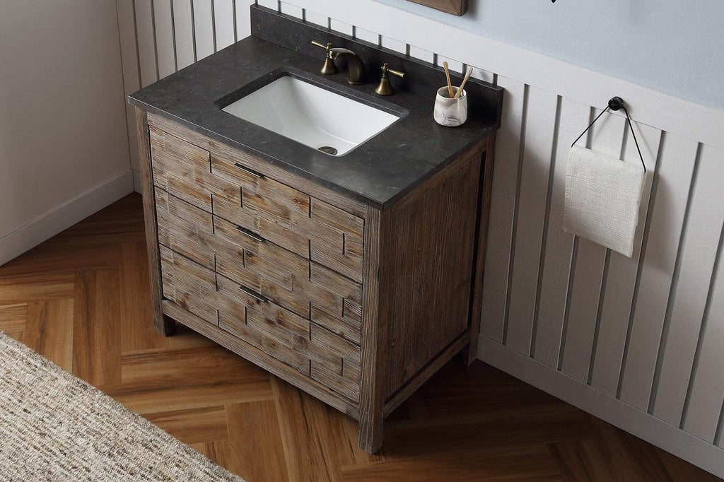 "Legion Furniture 36"" Wood Sink Vanity Match With Marble Wh 5136"" Top -No Faucet Bathroom Vanities WH8636 - SaunaTown.com"