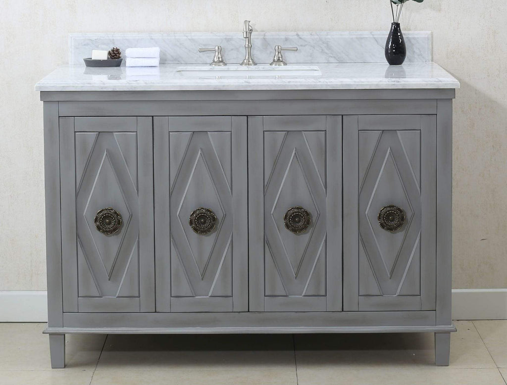 "Legion Furniture 48"" Gray Sink Vanity Cabinet Match With Wlf6036-49 Top, No Faucet Bathroom Vanities WLF7036-48 - SaunaTown.com"