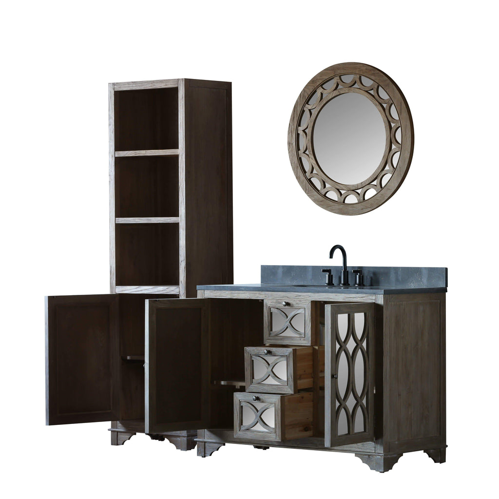 "Legion Furniture 48"" Solid Elm Sink Vanity With Faucet And 31.5"" Round Mirror Bathroom Vanities WN7448 + WN7401-M - SaunaTown.com"