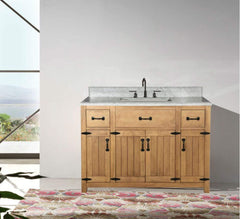 "Legion Furniture 48"" Weathered Brown Sink Vanity Matching Granite From Wlf6036-49"", No Faucet Bathroom Vanities WLF6044-48 - SaunaTown.com"