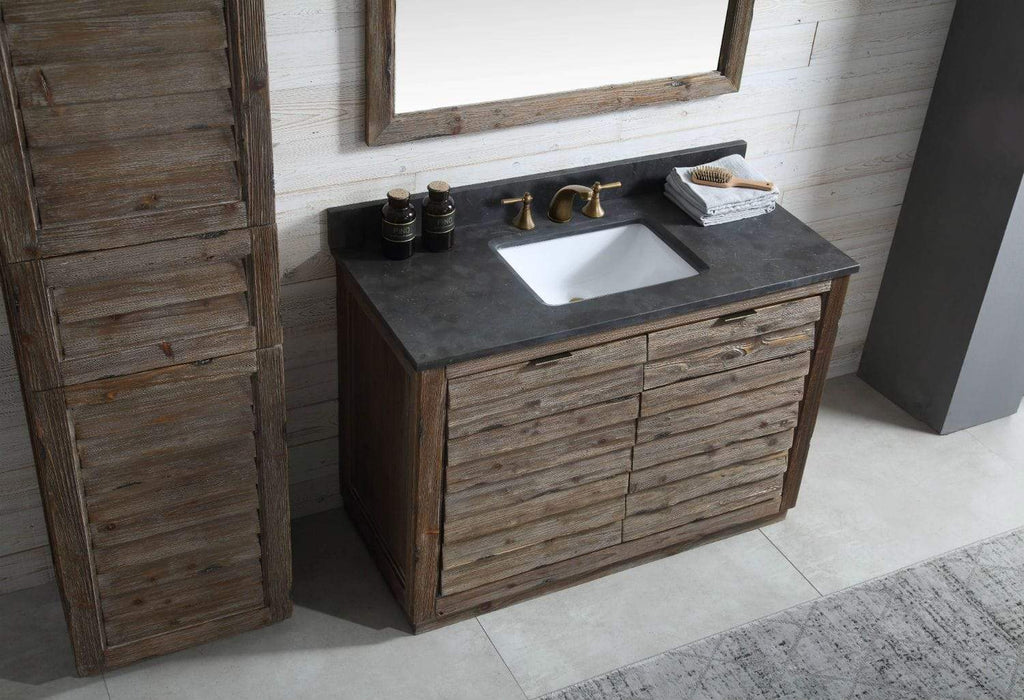 "Legion Furniture 48"" Wood Sink Vanity Match With Marble Wh 5148"" Top -no Faucet Bathroom Vanities WH8348 - SaunaTown.com"