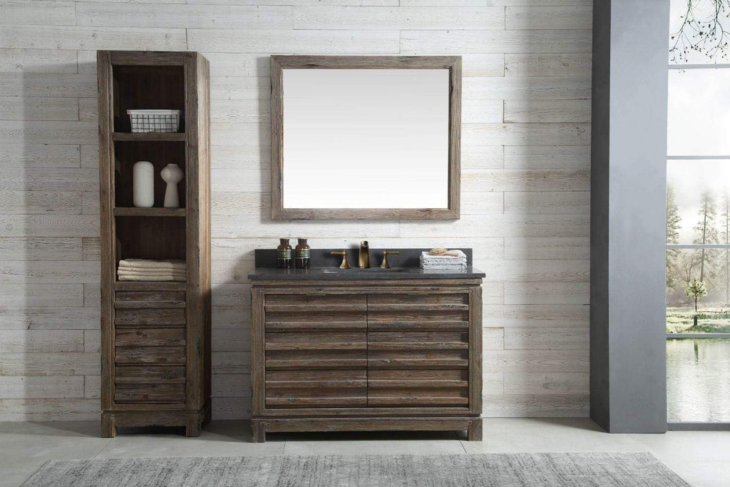 "Legion Furniture 48"" Wood Sink Vanity Match With Marble Wh 5148"" Top -no Faucet Bathroom Vanities WH8448 - SaunaTown.com"