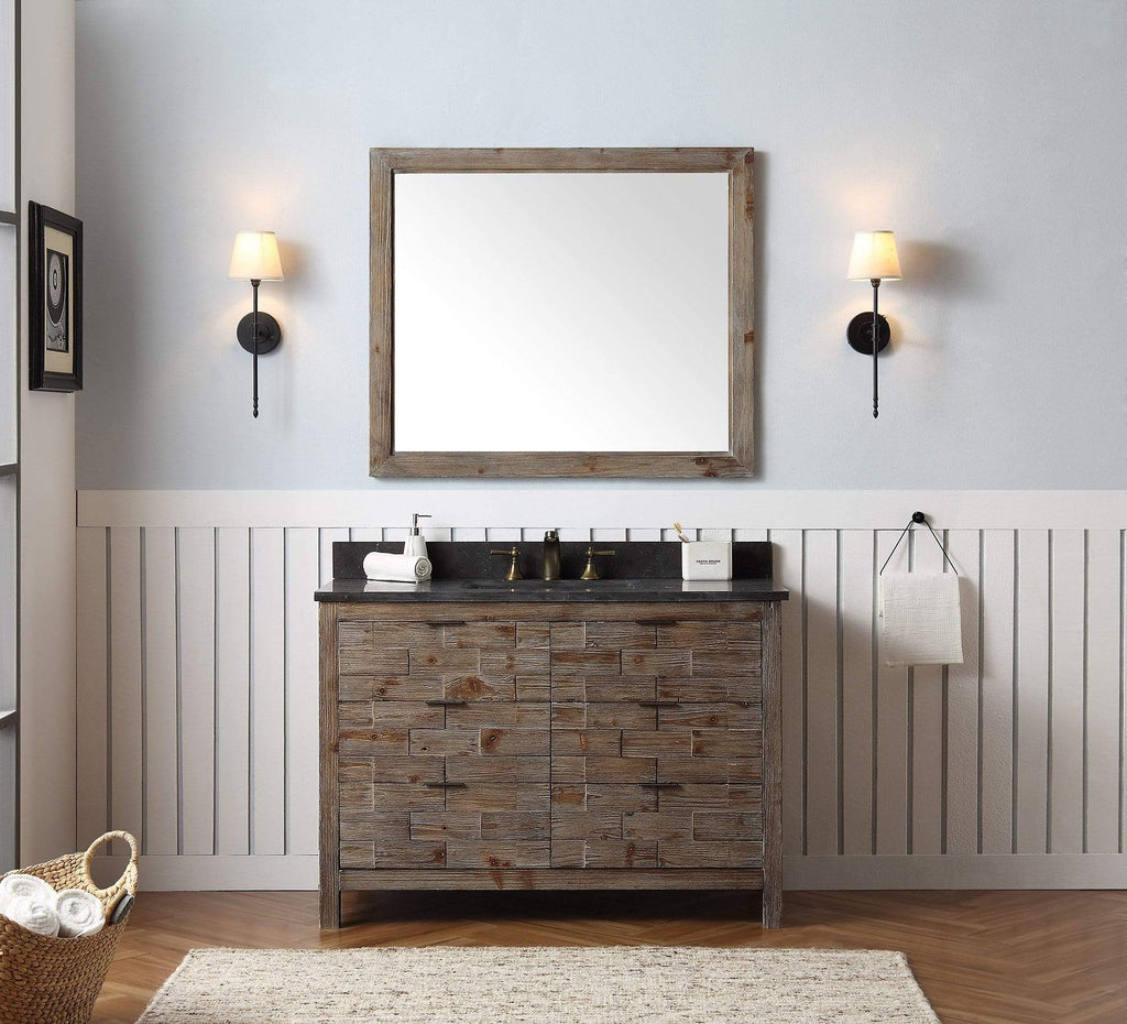 "Legion Furniture 48"" Wood Sink Vanity Match With Marble Wh 5148"" Top -No Faucet Bathroom Vanities WH8648 - SaunaTown.com"