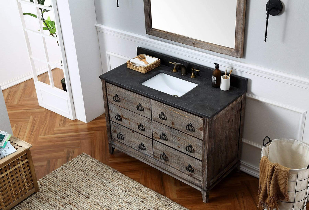 "Legion Furniture 48"" Wood Sink Vanity Match With Marble Wh 5148"" Top -No Faucet Bathroom Vanities WH8848 - SaunaTown.com"