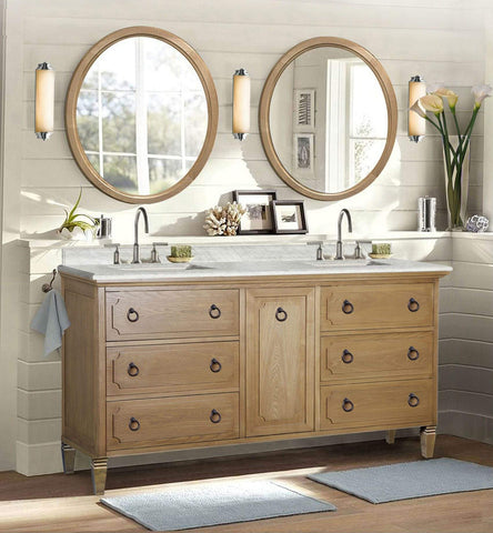 "Legion Furniture 60"" Weathered Brown Sink Vanity Matching Granite From Wlf6036-61"" Top, No Faucet Bathroom Vanities WLF6060 - SaunaTown.com"