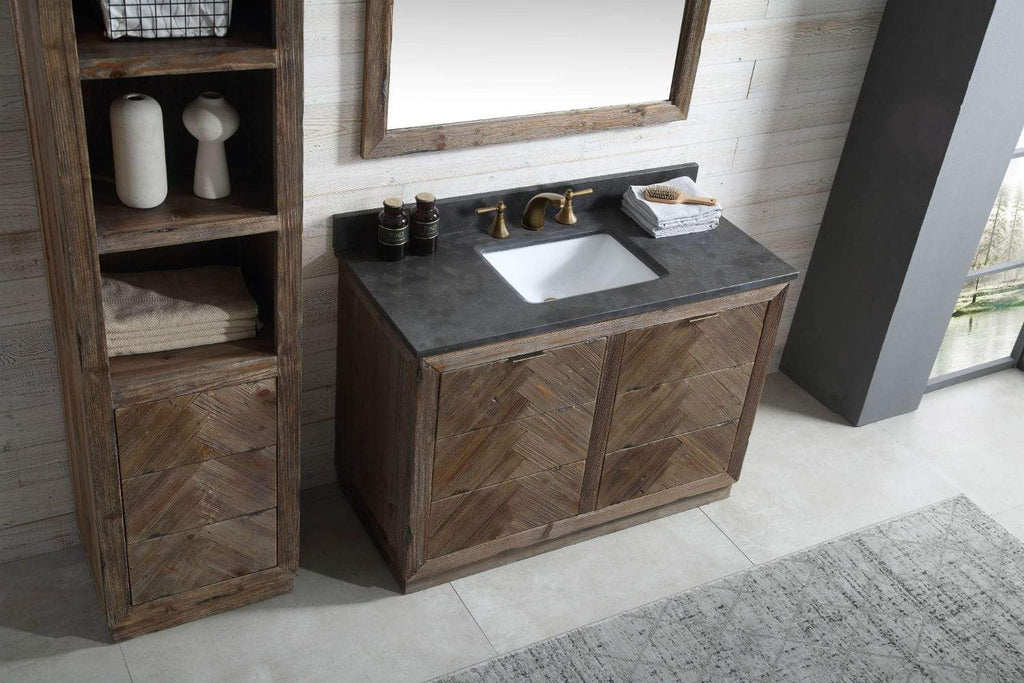 "Legion Furniture 60"" Wood Sink Vanity Match With Marble Wh 5160"" Top -No Faucet Bathroom Vanities WH8560 - SaunaTown.com"