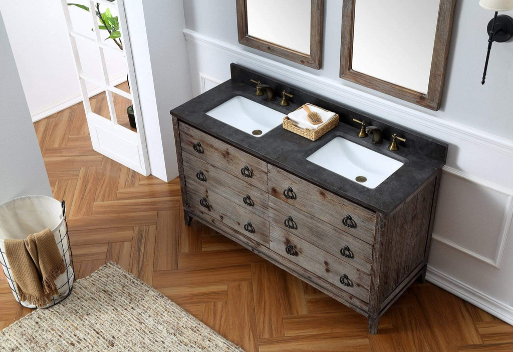 "Legion Furniture 60"" Wood Sink Vanity Match With Marble Wh 5160"" Top -No Faucet Bathroom Vanities WH8860 - SaunaTown.com"