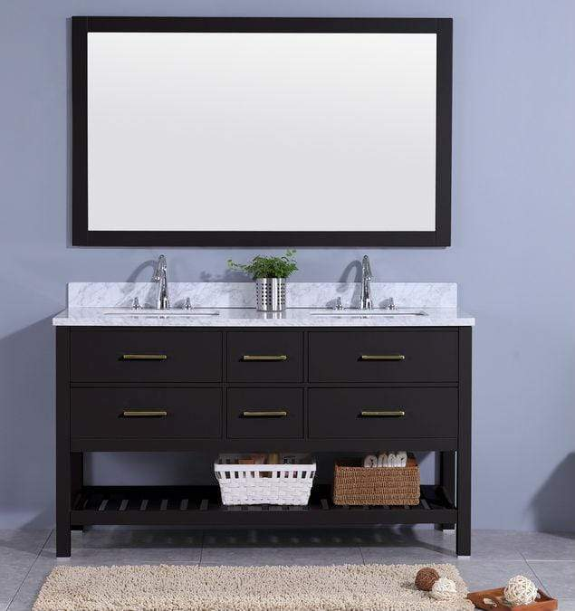 Legion Furniture Sink Vanity with Mirror, Without Faucet Bathroom Vanities WT7160-E - SaunaTown.com