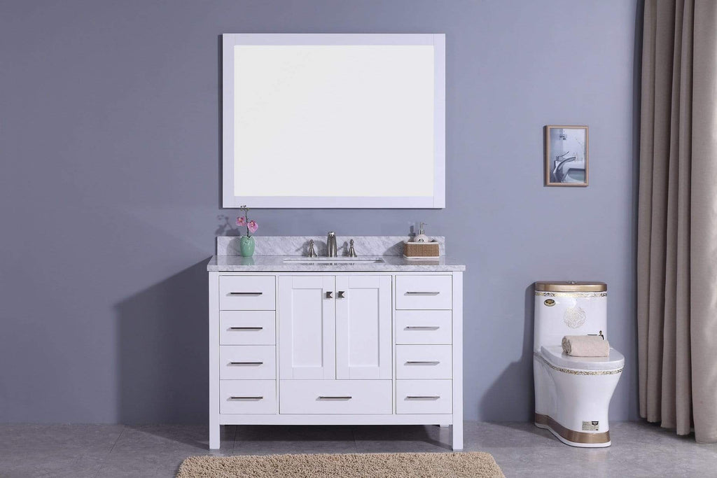 Legion Furniture Sink Vanity with Mirror, Without Faucet Bathroom Vanities WT7248-W - SaunaTown.com