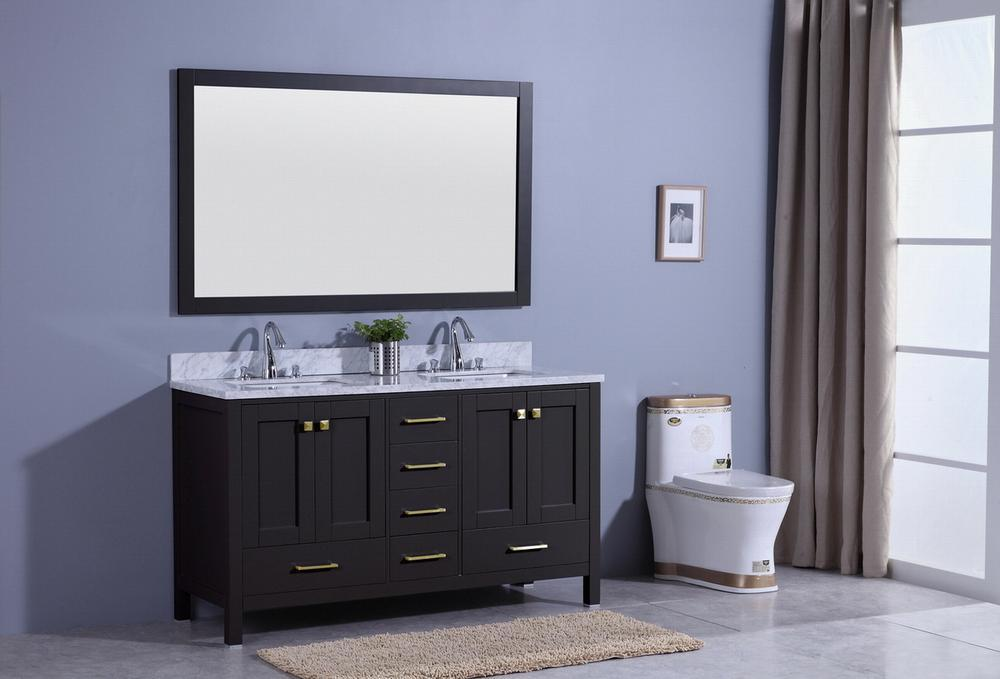 Legion Furniture Sink Vanity with Mirror, Without Faucet Bathroom Vanities WT7260-E - SaunaTown.com