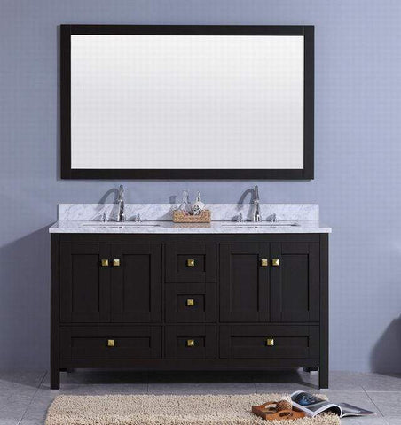 Legion Furniture Sink Vanity with Mirror, Without Faucet Bathroom Vanities WT7360-E - SaunaTown.com