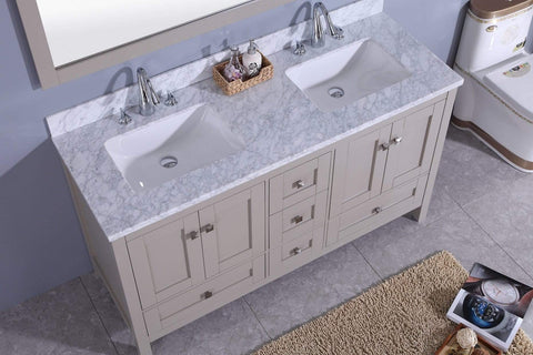 Legion Furniture Sink Vanity with Mirror, Without Faucet Bathroom Vanities WT7360-G - SaunaTown.com