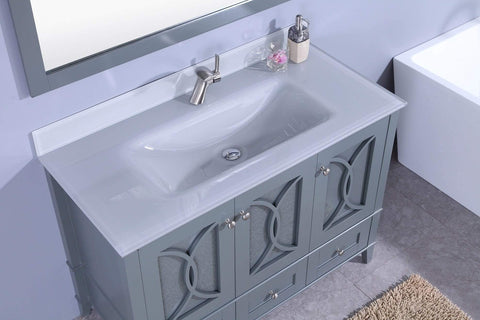 Legion Furniture Sink Vanity with Mirror, Without Faucet Bathroom Vanities WT7448-GG - SaunaTown.com