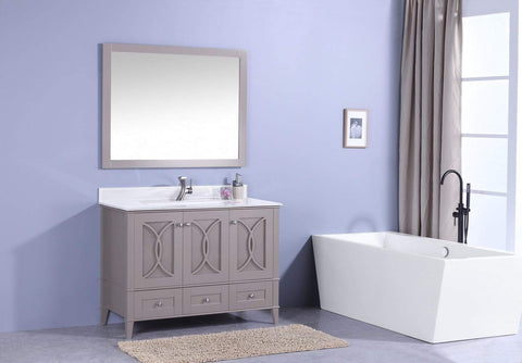 Legion Furniture Sink Vanity with Mirror, Without Faucet Bathroom Vanities WT7448-GW - SaunaTown.com