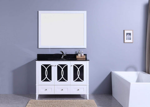 Legion Furniture Sink Vanity with Mirror, Without Faucet Bathroom Vanities WT7448-WB - SaunaTown.com