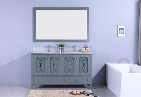 Legion Furniture Sink Vanity with Mirror, Without Faucet Bathroom Vanities WT7460-GG - SaunaTown.com