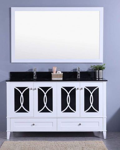 Legion Furniture Sink Vanity with Mirror, Without Faucet Bathroom Vanities WT7460-WB - SaunaTown.com