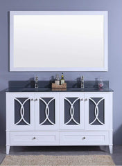 Legion Furniture Sink Vanity with Mirror, Without Faucet Bathroom Vanities WT7460-WT - SaunaTown.com