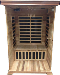 Sunray Evansport Two-Person Infrared Sauna HL200C, Natural Hemlock