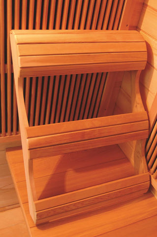 SunRay Heathrow 2 Person Infrared Sauna HL200W - SaunaTown.com